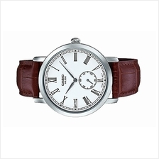 Casio Men Analog Leather Strap Watch MTP-E150L-7BVDF