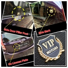 METAL BADGE EMBLEM SIDE MARK TRUNK ALUMINIUM LOGO AUTO CAR STICKER DEC