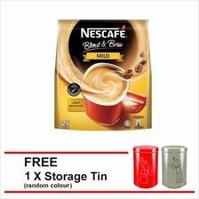 NESCAFE Blend and Brew Mild 28 Sticks F.O.C. Tin Canister (Random Colo)