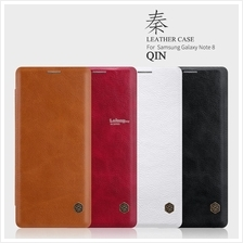 Nillkin QIN Leather Galaxy S6 S7 Edge S8 Plus Note 8 Flip Case Cover
