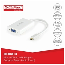 CLiPtec Micro HDMI to VGA Adaptor with Audio and Power-OCD813)