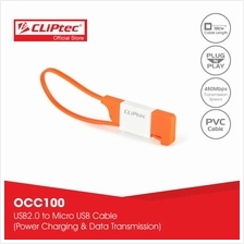 CLiPtec THE LOCK Slim Flat USB 2.0 Micro-B Cable OCC100)