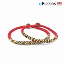 1 Pair Handmade Knots Red Good Lucky Rope Bracelet by Tibetan
