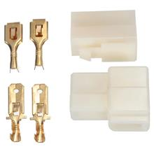 2 Way 6.3mm Male Female Terminals Multi Connector Plug