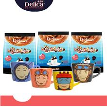 3 Flavors Delica Ipoh White Coffee Bundle - Classic, Rich, Less Sugar)