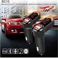 3.1A 2-Port USB Car Charging Hands-Free Calling MP3 Player Bluetooth