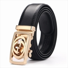 DOULILU Men Leather Automatic Buckle Waist Belt Tali Pinggang 259