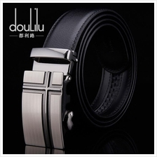 DOULILU Men Leather Automatic Buckle Waist Belt Tali Pinggang 258