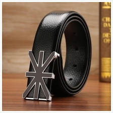 DOULILU Men Leather Automatic Buckle Waist Belt Tali Pinggang 255