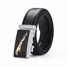 DOULILU Men Leather Automatic Buckle Waist Belt Tali Pinggang 254