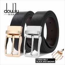 DOULILU Men Leather Automatic Buckle Waist Belt Tali Pinggang 253