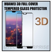 Huawei P20 Pro Lite 3D Curved Full Cover Tempered Glass Protector