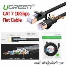 3m Ugreen Flat 10 Gigabit Cat 7 STP Patch cord LAN Cable Cat7 Gold pla