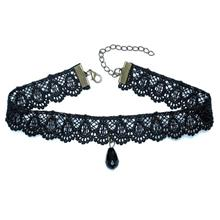 YOUNIQ-Basic Korean Oblige Lace Black Choker