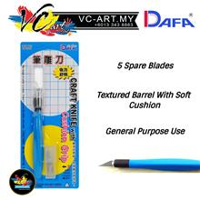 DAFA Craft Knife with Cushion Grip (5 Spare Blades Included)
