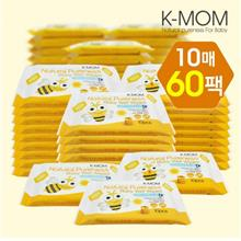K-Mom Natural Pureness Baby Wet Wipes Bee 10pcs x 60packs)