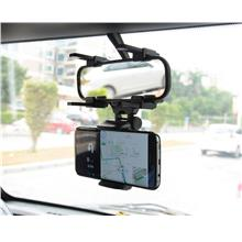Rotatable Adjustable Rear View Mirror Bracket Mount Stand Phone Holder