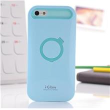 IGLOW Luminous ring PC cell phone cases For Iphone 4 4s