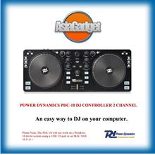 POWER DYNAMICS PDC-10 DJ CONTROLLER 2 CHANNEL PDC10