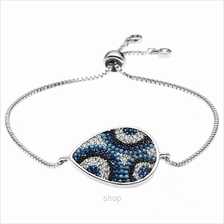 Kelvin Gems Luna Pave Adjustable Chain Bracelet)