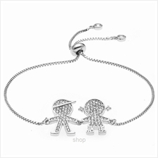 Kelvin Gems Luna Couple Adjustable Chain Bracelet)