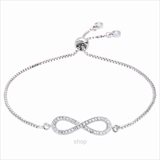 Kelvin Gems Luna Infinity Adjustable Chain Bracelet)