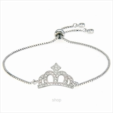 Kelvin Gems Luna Princess Crown Adjustable Chain Bracelet)