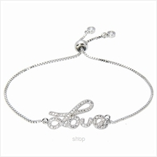 Kelvin Gems Luna Lovely Silver Adjustable Chain Bracelet)