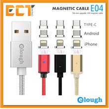 Elough E04 1m Magnetic USB to 3-in-1 Charging Cable (Type-C,Micro USB,