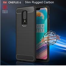 Slim Rugged Armor Carbon Fiber TPU OnePlus 6 One Plus 6 case cover