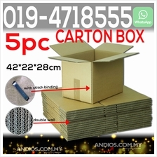 5pc Double Wall Carton Box Corrugated Kotak (42X22X28cm)