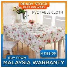 PVC Rectangle Waterproof Oilproof Dining Table Cloths (183cm x 137cm)