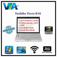 Refurb Toshiba Tecra R10 Core 2 Duo~4Gb~120Gb HDD~W7 Pro