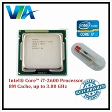 Intel ® Core ™ i7-2600 Processor 8M Cache, 3.40 GHz Socket