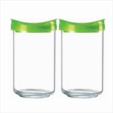 Luminarc Glass Jars QB0617 (2 x 1.1L) Leak + Air Proof Luminarc Food C