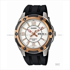CASIO MTP-1327-7A1V STANDARD Analog day-date resin strap white bronze