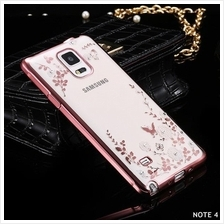 Samsung Galaxy Note 3 4 5 8 Transparent Flower Diamond Case