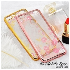 Huawei Nova 2 Lite Plus 2i P20 Transparent Flower Diamond Case