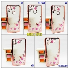 Vivo V7 Plus V9 Y51 Y53 (2017) Transparent Flower Diamond Case