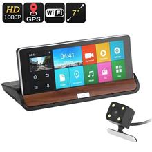 2 Car Camera Set With 7 Inch Display, GPS, Android OS (WCR-27) ★
