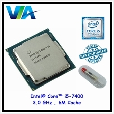 Intel ® Core ™ i5-7400, 3.0 GHz , 6M Cache, Socket LGA1151