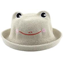 CUTE FROG CANDY COLOR BREATHABLE STRAW HAT FOR CHILDREN (LIGHT COFFEE)