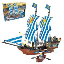Kazi KY87011 Pirates King Ship Set Building Blocks Bricks Toys Model