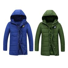 DOLLYPOODY Men Slim Fit Hooded Winter Cotton Coat Jacket (2 Colours)