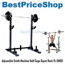 Adjustable Smith Machine Half Cage Squat Rack Gym Bench Press YL-SM05