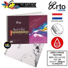 Campap Arto Acrylic Painting Paper Spiral 360gsm, 12 Sheets - A4 Size