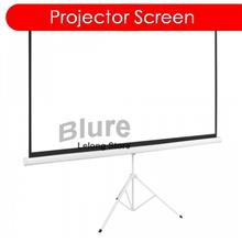 """100 """"Foldable Projector Screen with Tripod Bracket Stand 4:3"""