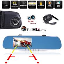 Dual Lens Car DVR Full HD 1080P Recorder Dashcam Camera G-Sensor Video