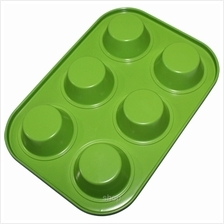 Fackelmann 6 Cup Muffin Pan Green - 5535881)