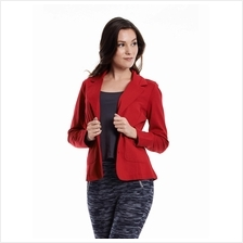 red waistcoat stylish outerwear